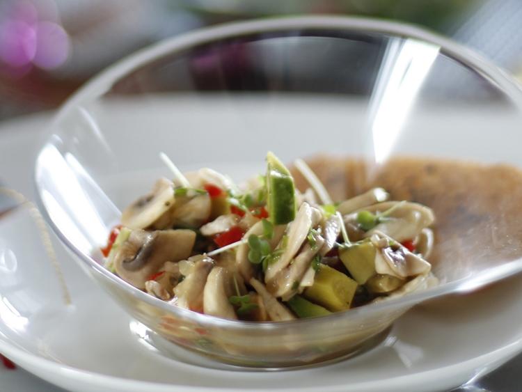 ceviche vegetariano de champiñon