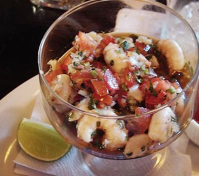 ceviche de camarón colombiano