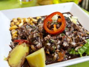 ceviche de conchas negras o prietas receta de Tumbes